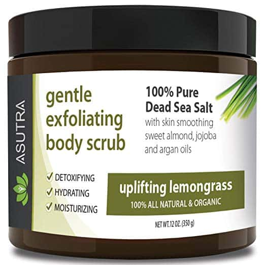 ASUTRA gentle exfoliating body scrub.