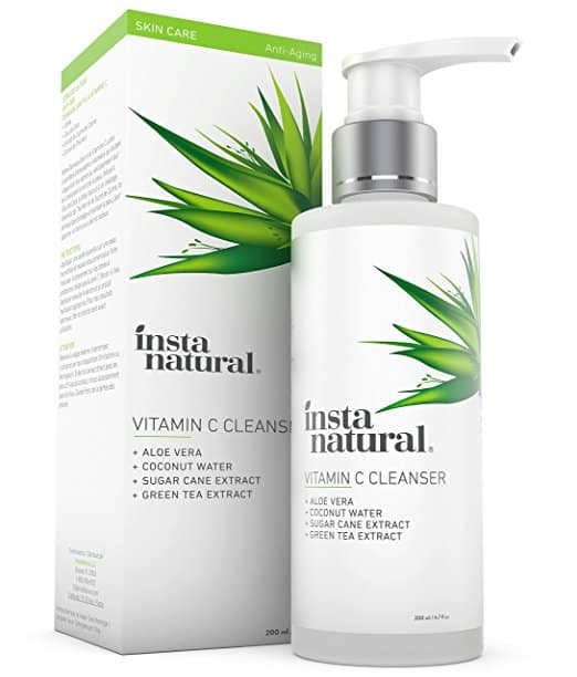 Insta natural Vitamin C Facial Cleanser.