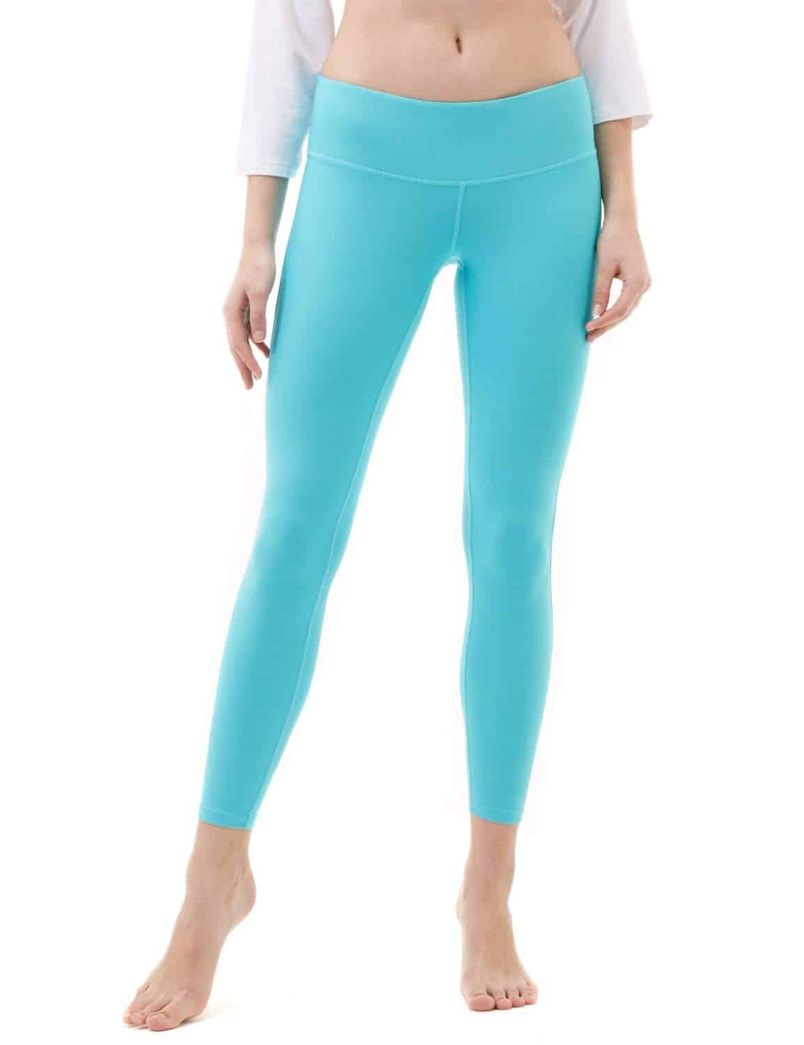 Tesla Yoga Pants Mid-Waist Leggings